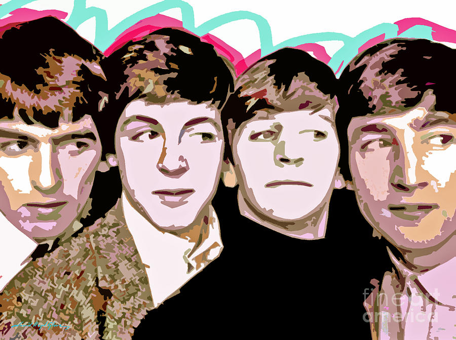 The Beatles Painting - The Beatles Love by David Lloyd Glover