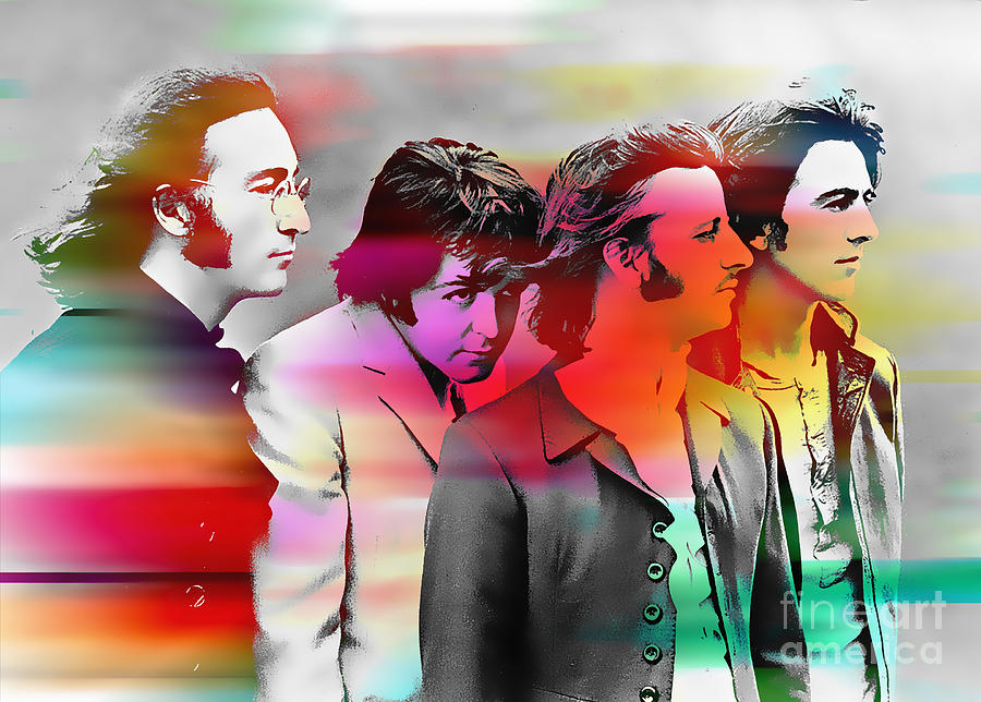 Watercolor Paintings Mixed Media - The Beatles Painting by Marvin Blaine