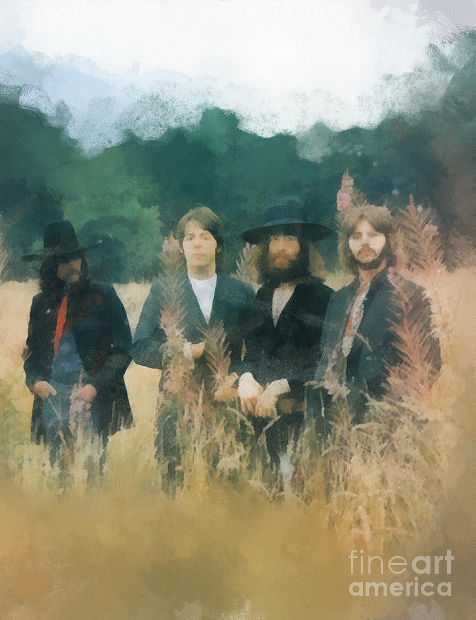 The Beatles Digital Art - The Beatles by Paulette B Wright