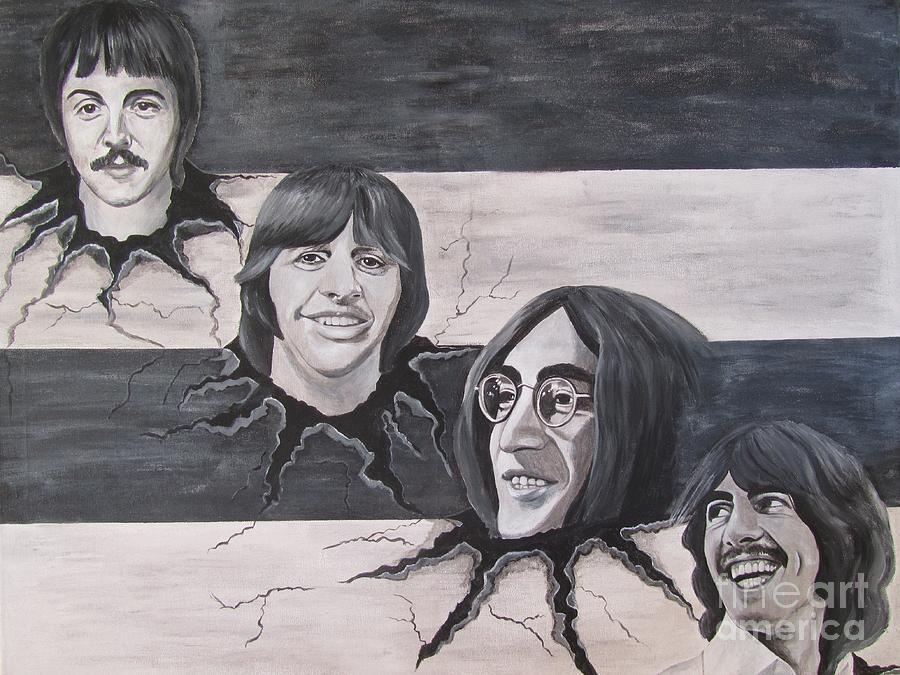 The Beatles Painting - the Beatles the Roots by Jeepee Aero