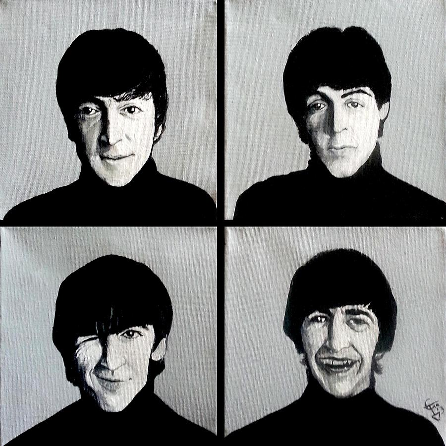 The Beatles Painting - The Beatles by Tom Carlton