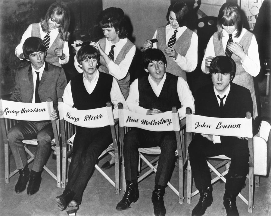 1960's Photograph - The Beatles by Underwood Archives