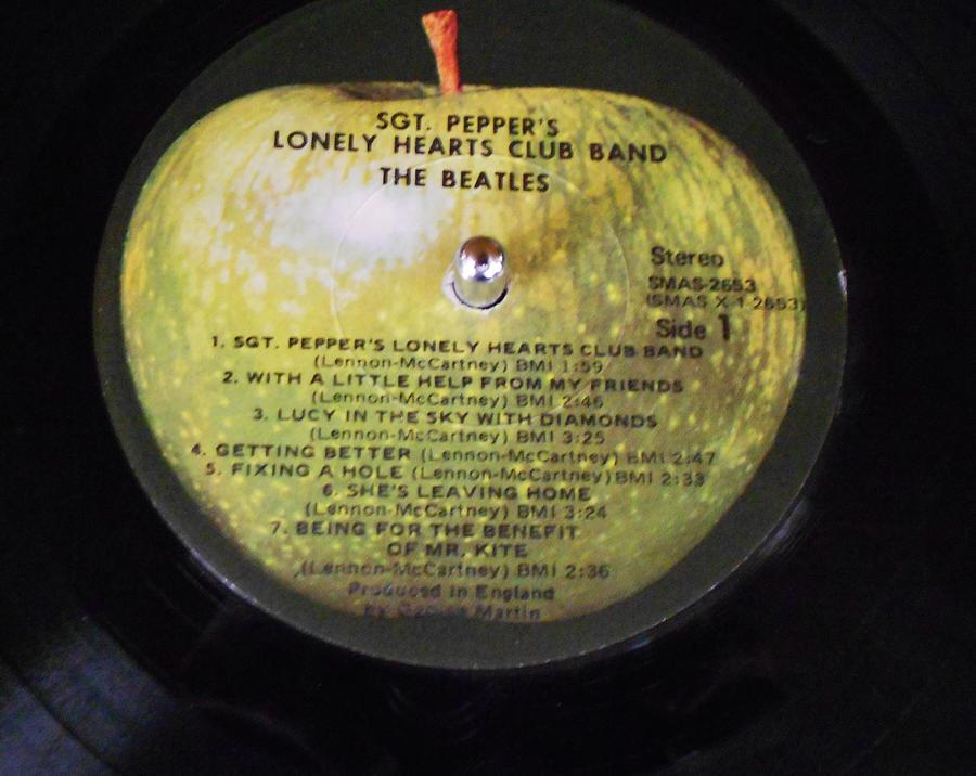 Record Photograph - The Beatles Vinyl - Sgt. Peppers by Dianna Jackson