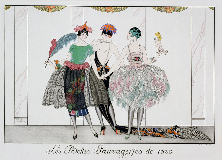 Print Painting - The Beautiful Savages by Georges Barbier