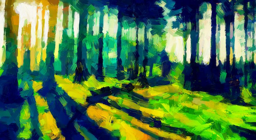 Trees Digital Art - The Beautiful Trees Tnm by Vincent DiNovici