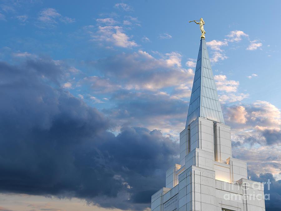 Blue Photograph - The Beautiful Vancouver Lds Temple. by Laurent Lucuix