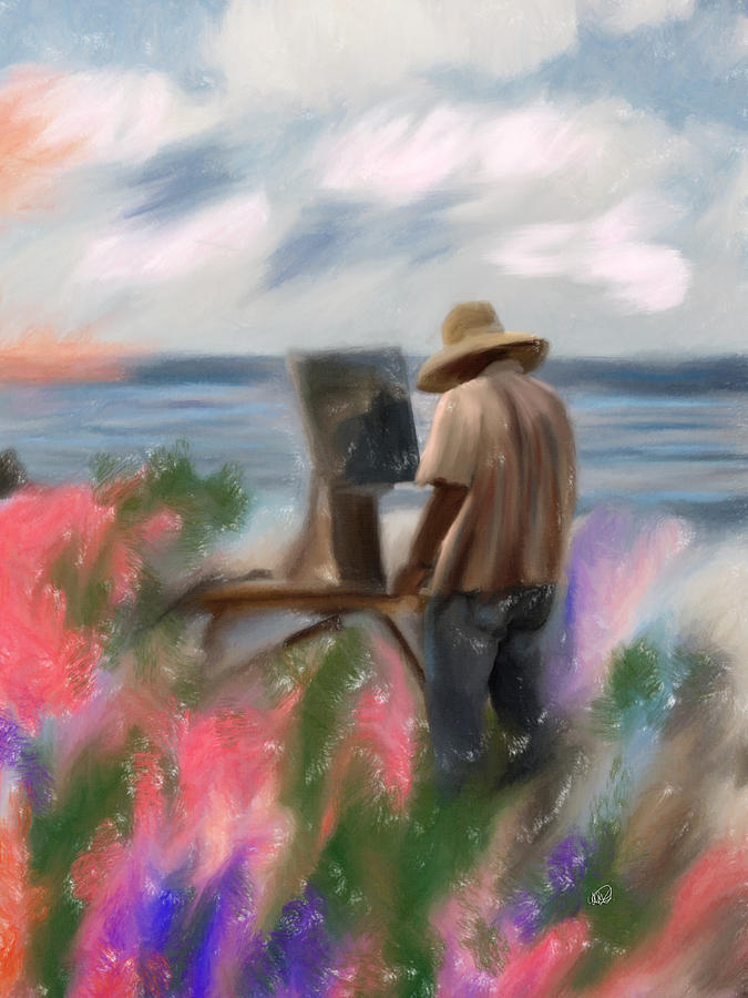La Jolla Painting - The Beauty Of A Painter by Angela A Stanton
