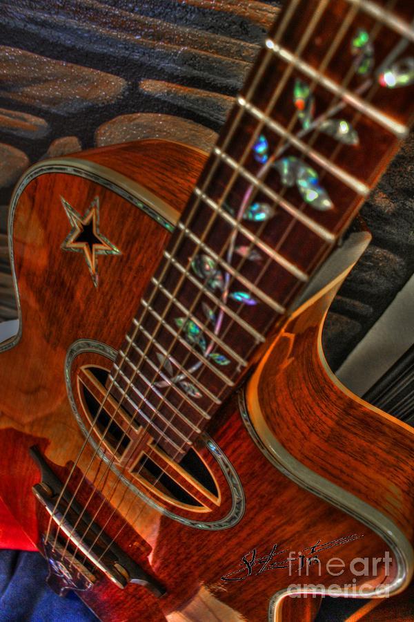 Acoustic Photograph - The Beauty Of A Six String Digital Guitar Art By Steven Langston by Steven Lebron Langston