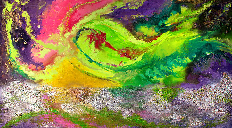 Aurora Borealis Painting - The beauty of Aurora by Julia Apostolova