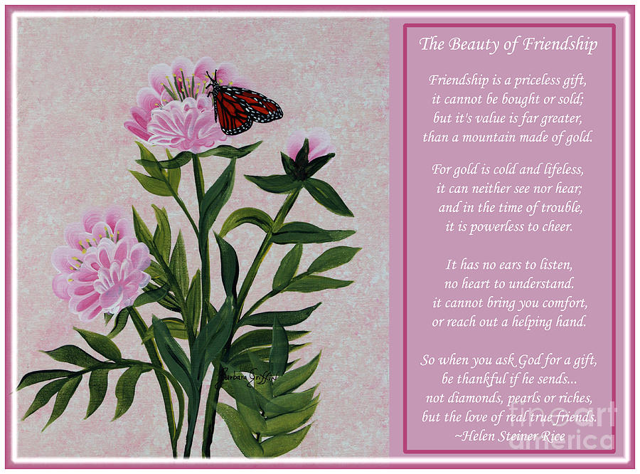 Beauty Painting - The Beauty Of Friendship by Barbara Griffin