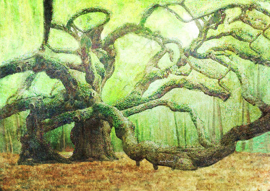 Old Tree Painting - The Beauty Of Old Age by Angela Stanton