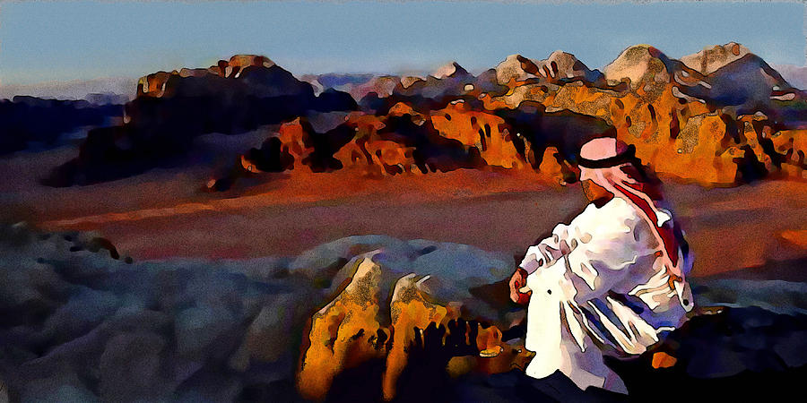 Bedouin Painting - The Bedouin by Jann Paxton