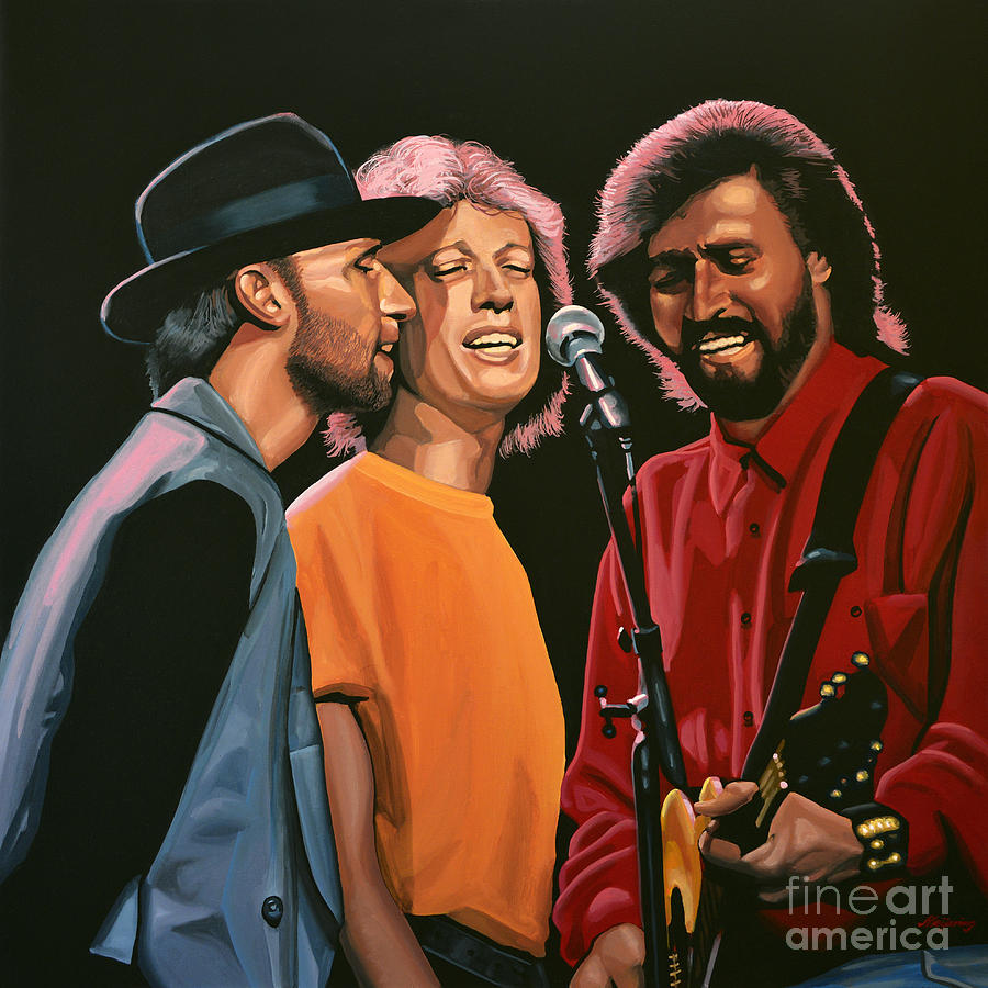 The Bee Gees Painting - The Bee Gees by Paul Meijering
