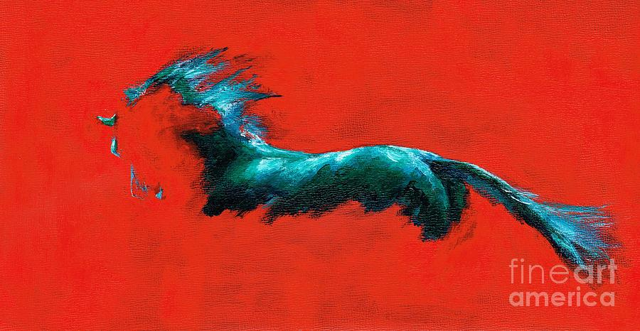 Equine Art Painting - The Beginning Of Life by Frances Marino