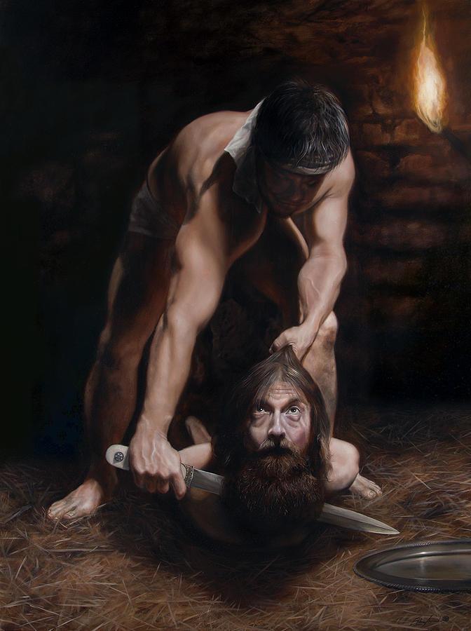 John The Baptist Painting - The Beheading Of St. John The Baptist by Eric  Armusik