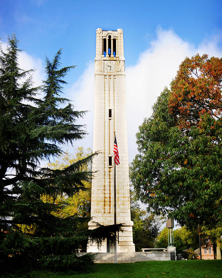 The Belltower at NC State University by Val Stone Creager