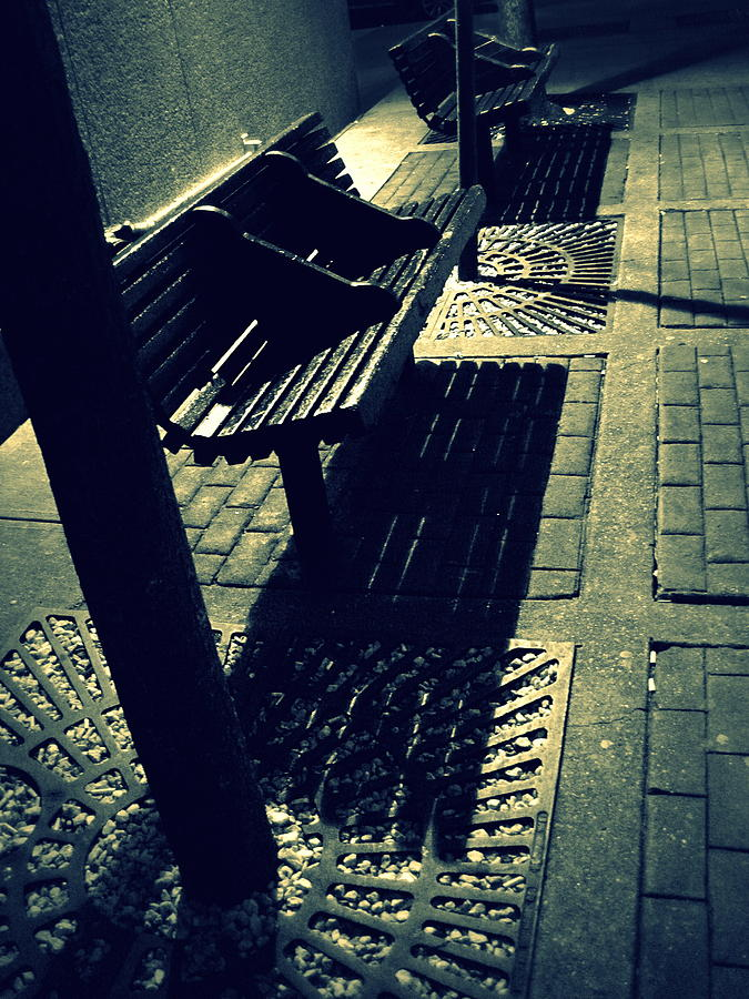 Bench Photograph - The Bench At Sunset by Jhoy E Meade