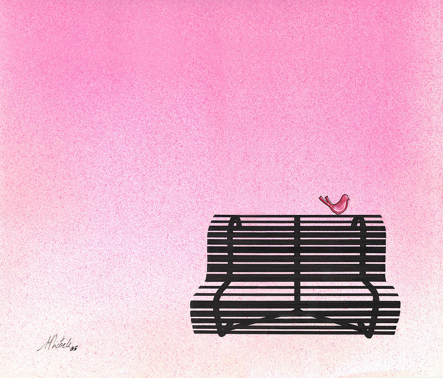Minimal Painting - The Bench by Daniele Zambardi