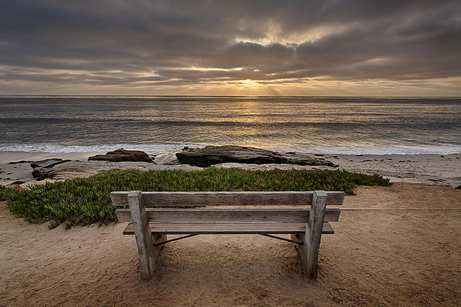 Beach Photograph - The Bench IIi by Peter Tellone