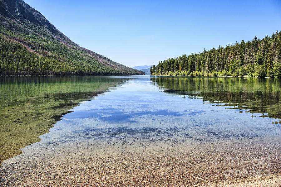 Kintla Lake Photograph - The Best Beach In Glacier National Park by Scotts Scapes