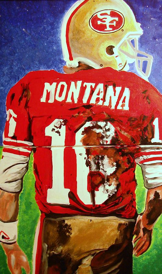 Joe Montana Painting - The Best Ever..... by Ottoniel Lima