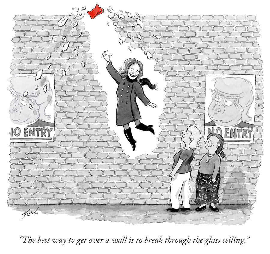 Cartoon Drawing - The Best Way To Get Over A Wall Is To Break by Tom Toro