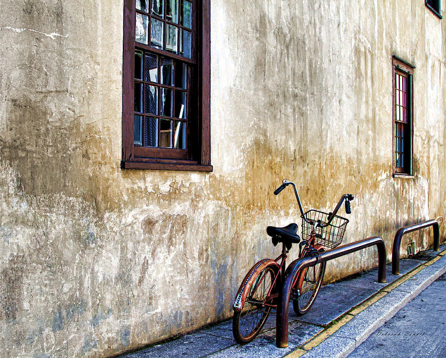 Old Bicycle Photograph - The Bicycle by Deborah Benoit