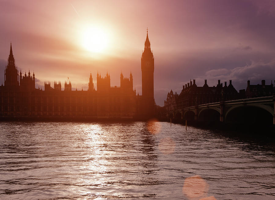 The Big Ben At Sunset Photograph by Mammuth