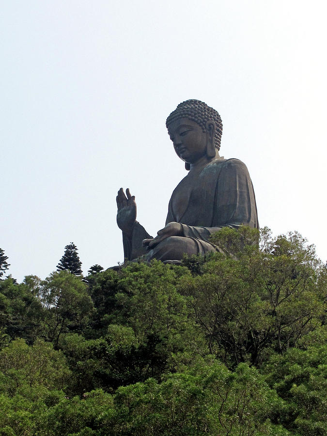 The Big Buddha Statue In The Po Lin Photograph by Cait