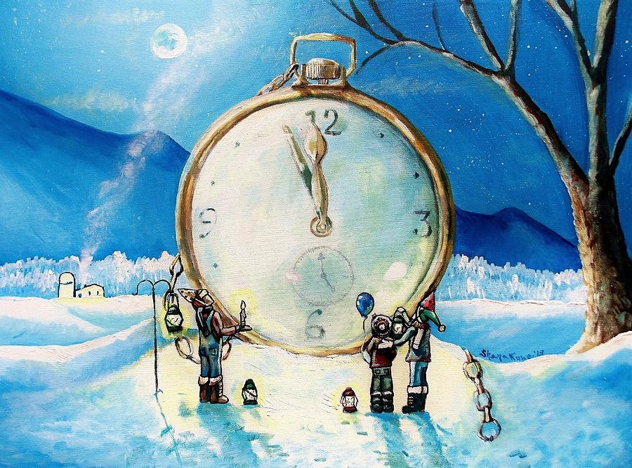 Watch Painting - The Big Countdown by Shana Rowe Jackson