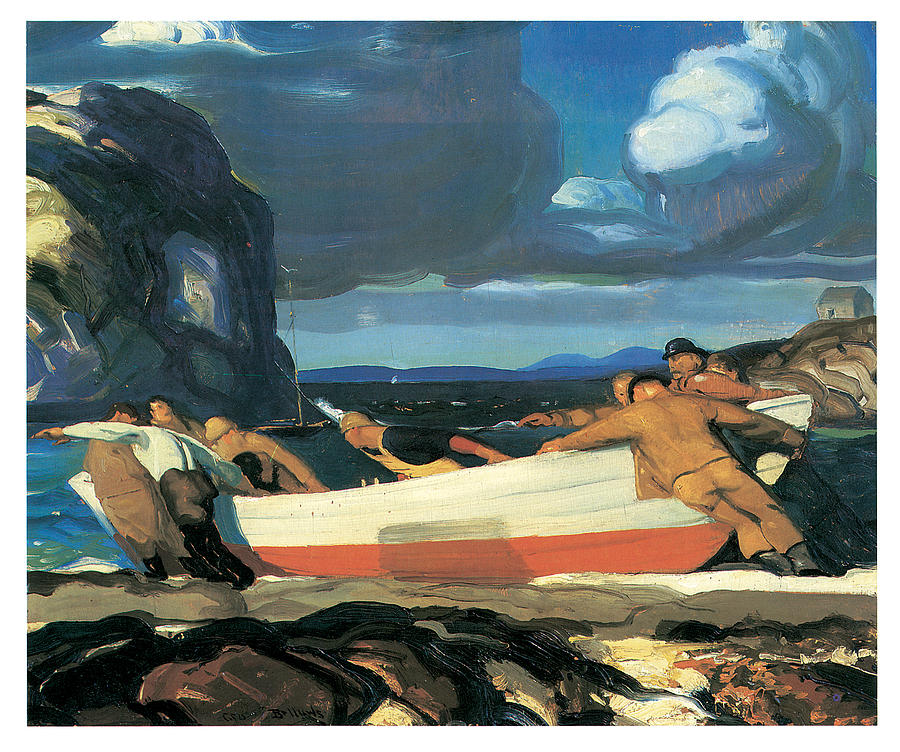 George Bellows Painting - The Big Dory by George Bellows