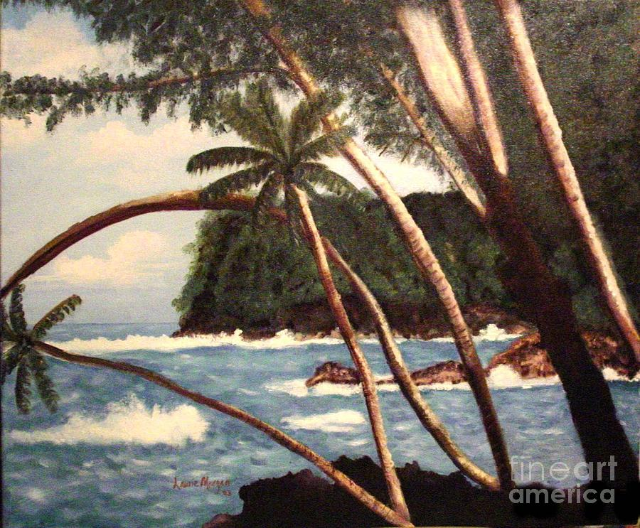 Hawaii Painting - The Big Island by Laurie Morgan