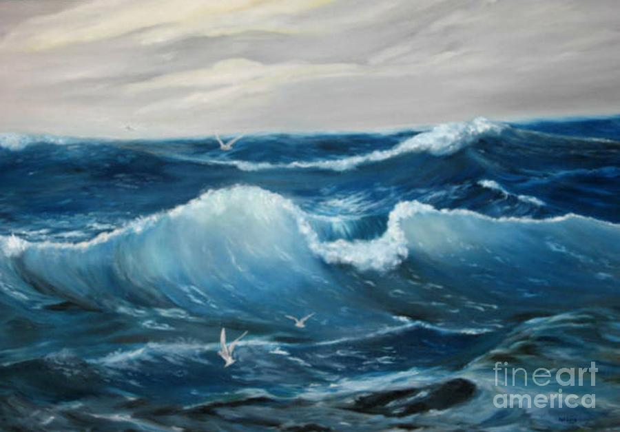 Wave Painting - The Big Ocean by Patricia Lang
