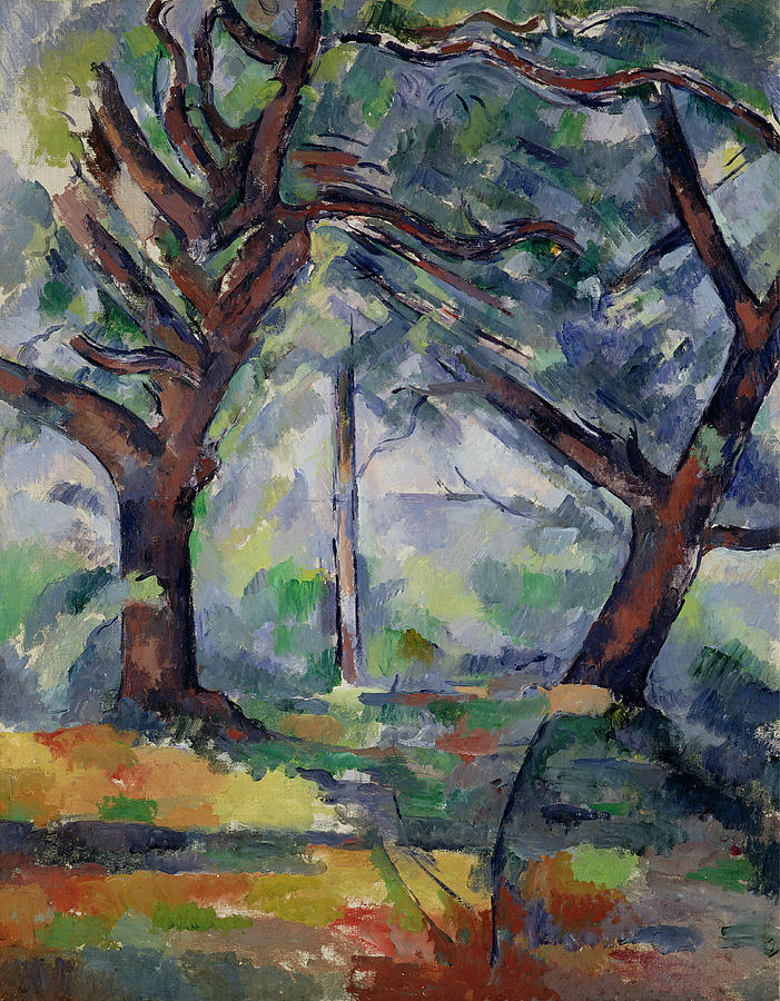 The Big Trees Painting - The Big Trees by Paul Cezanne