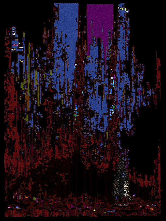 Abstract Digital Art - The Binge by Tim Allen