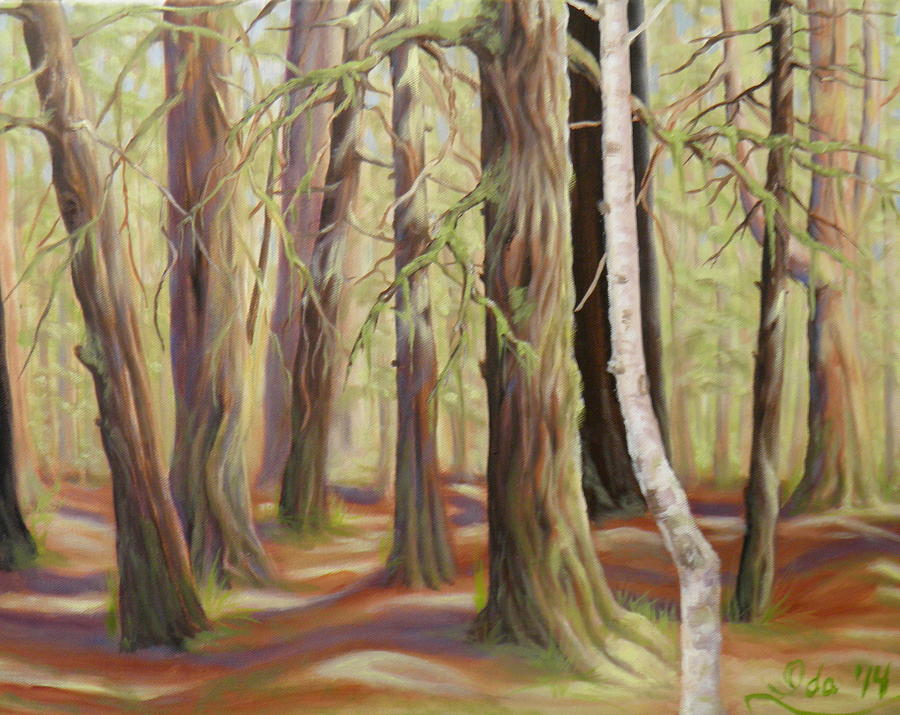 The Birch Tree Painting by Ida Eriksen