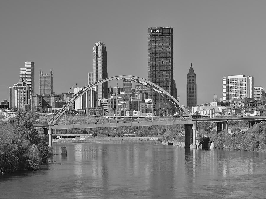 Birmingham Bridge Photograph - The Birmingham Bridge In Pittsburgh by Digital Photographic Arts