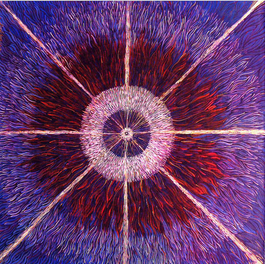 Energy Painting - The Birth Of A New Star by Lola Lonli