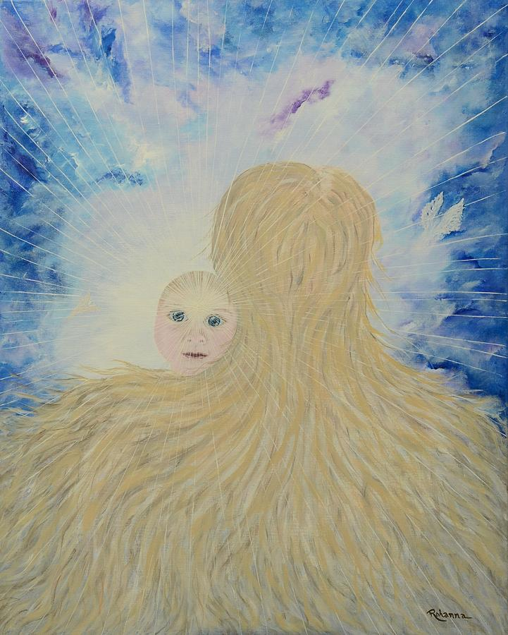 Divine Painting - The Birth Of New Universal Love Named Tao  by Judy M Watts-Rohanna