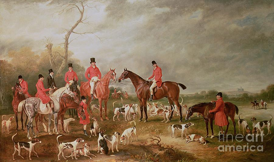 Landscape Painting - The Birton Hunt by John E Ferneley