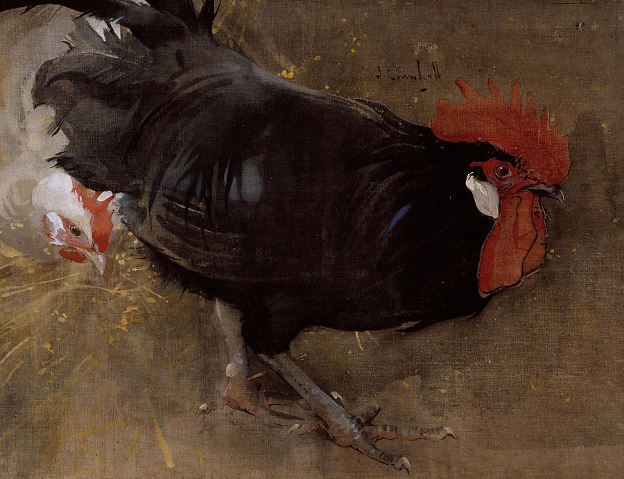Bird Painting - The Black Cock by Joseph Crawhall
