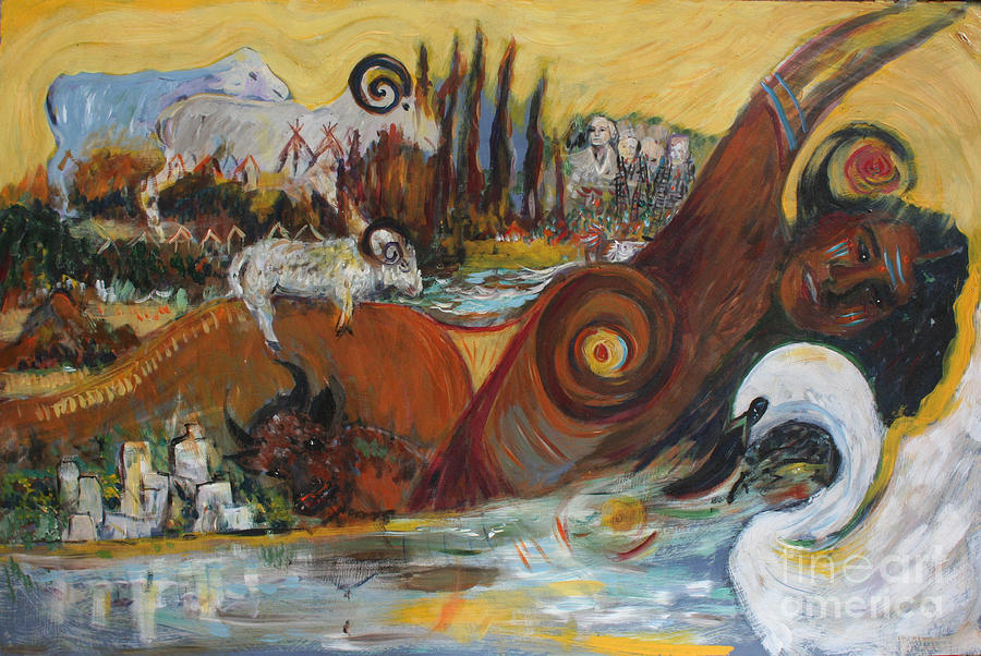 Native American Painting - Black Hills Medley  by Avonelle Kelsey