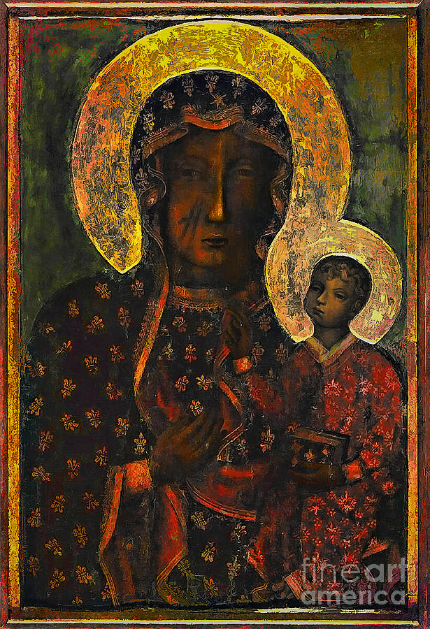 The Black Madonna is a painting by Andrzej Szczerski which was ...