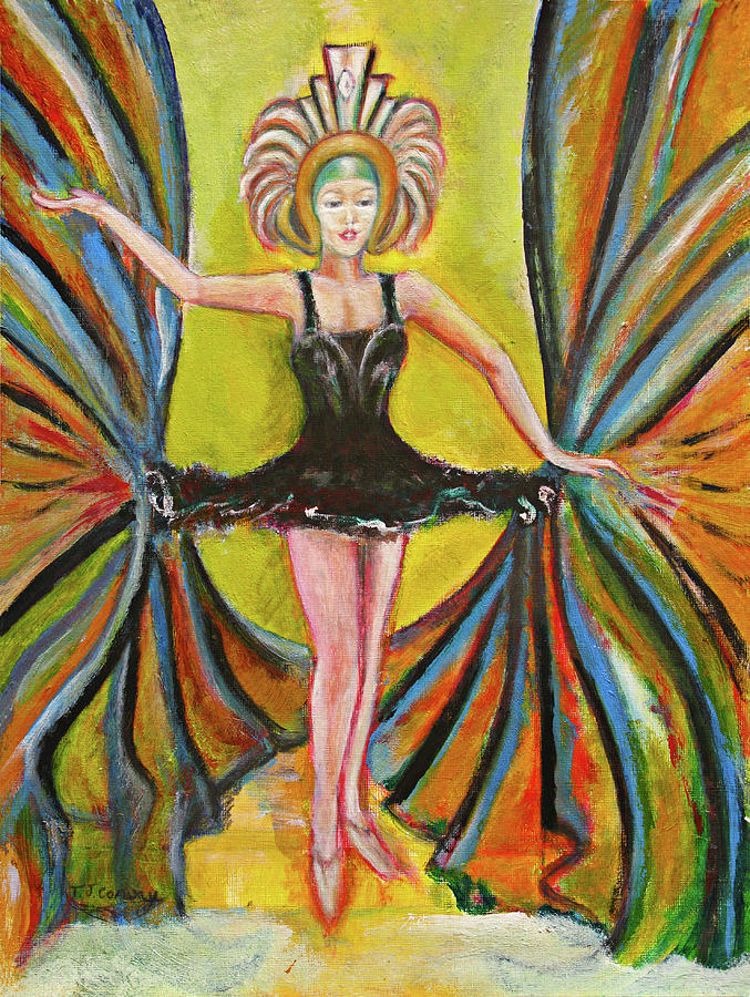 Ballet Painting - The Black Tutu by Tom Conway