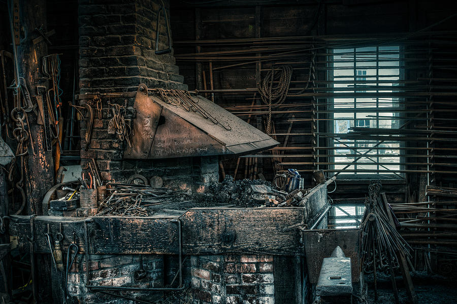 Blacksmith Photograph - The Blacksmiths Forge - Industrial by Gary Heller