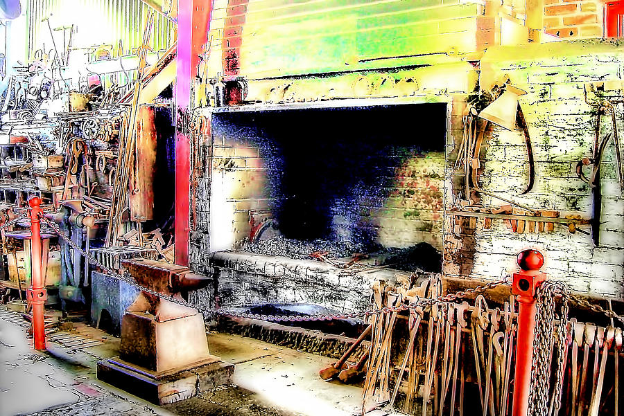 Blacksmith Photograph - The Blacksmiths Forge. by Trevor Kersley