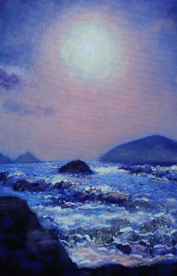 Acrylic Painting - The Blasket Islands by John  Nolan