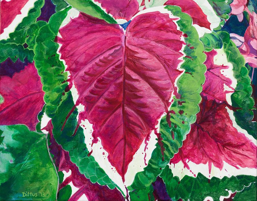 Coleus Painting - The Bleeding Heart by Chrissey Dittus