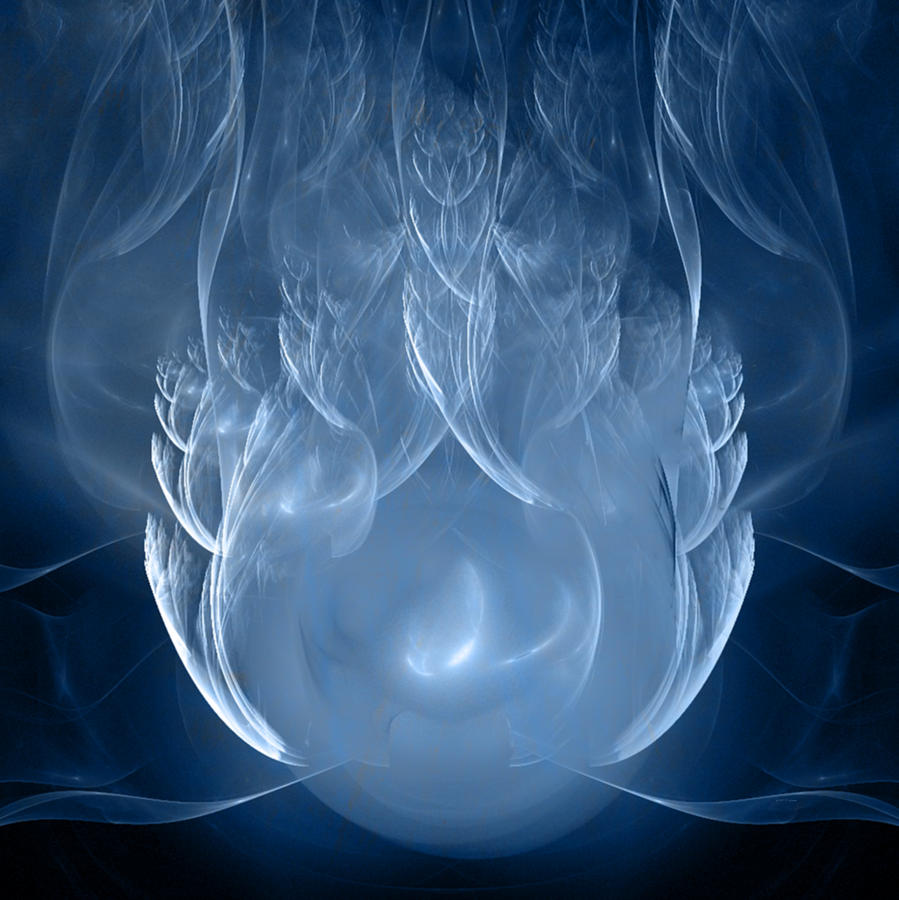 Blue Digital Art - The Blessed by Elizabeth S Zulauf
