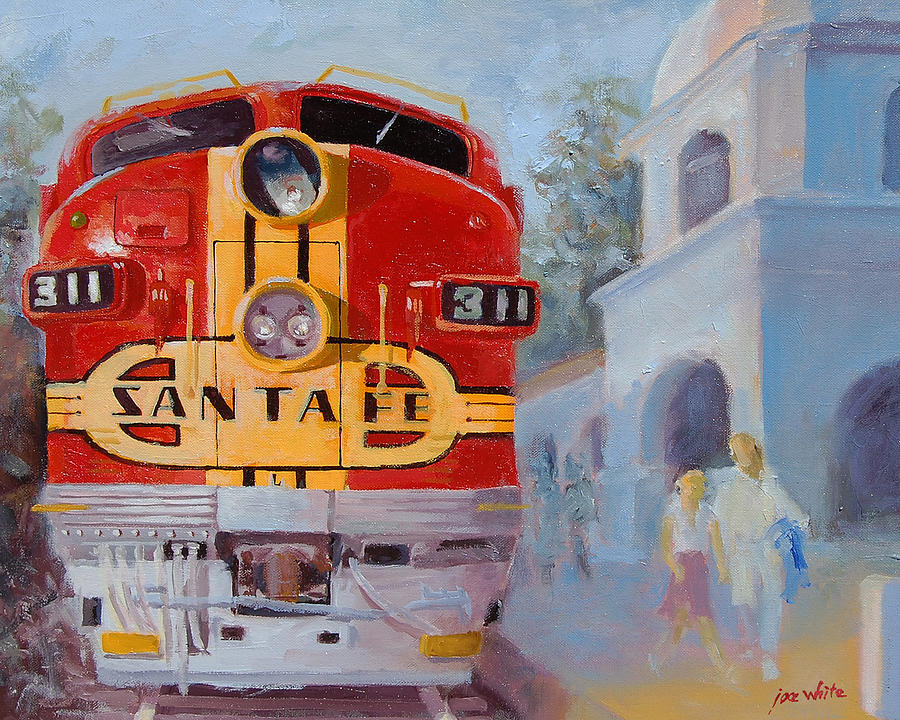Trains Painting - The Chief In San Juan Capistrano by Joe White
